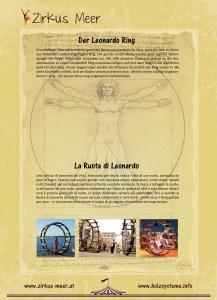 Aufsteller mit Informationen über den Leonardoring